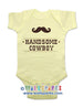 Handsome Cowboy with a Mustache - Baby One-Piece Bodysuit, Infant, Toddler, Youth Shirt