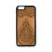 Henna Design33 iPhone Case Carved Engraved design on Real Natural Wood - For iPhone X/XS, 7/8, 6/6s, 6/6s Plus, SE, 5/5s, 5C, 4/4s