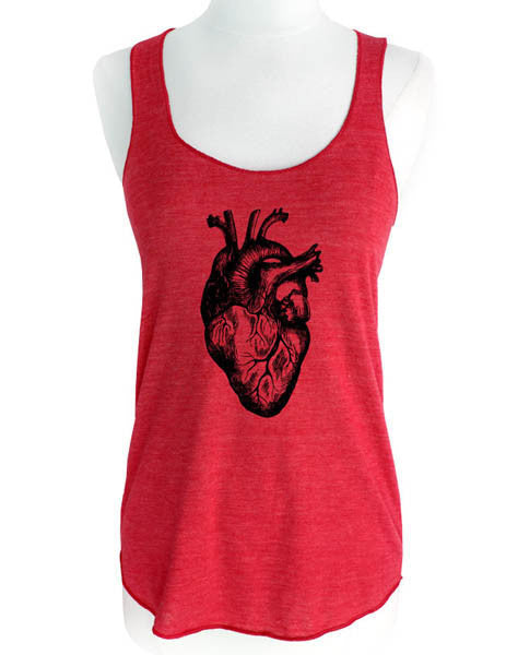 Human Heart Graphic - Soft Tri-Blend Racerback Tank