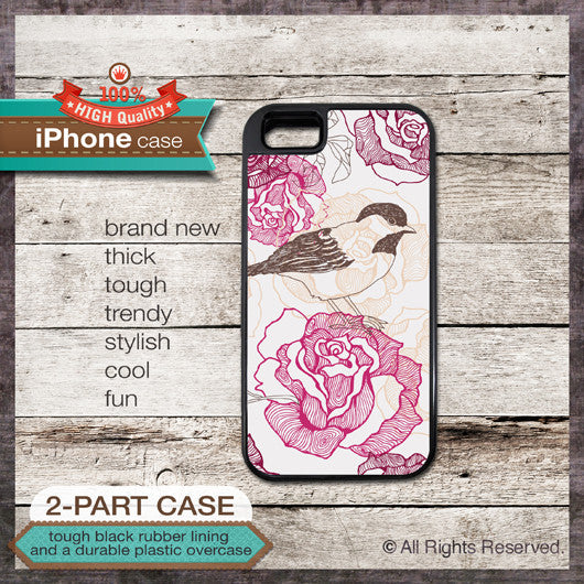 Bird - Design Cover 04 - Choose from iPhone 4/4S, 5/5S, 5C, Samsung Galaxy S3 or S4 Case