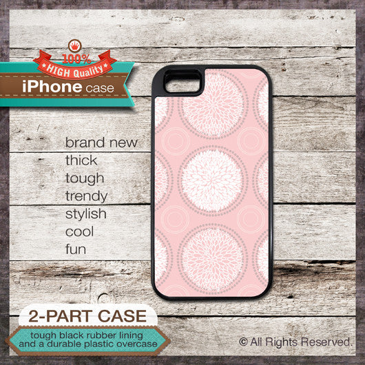 Floral pattern - Design Cover 06 - Choose from iPhone 4/4S, 5/5S, 5C, Samsung Galaxy S3 or S4 Case