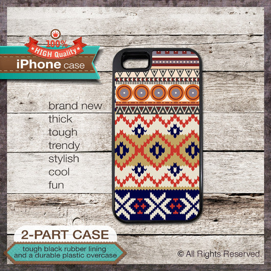 Tribal Navajo pattern design - Design Cover 27 - Choose from iPhone 4/4S, 5/5S, 5C, Samsung Galaxy S3 or S4 Case