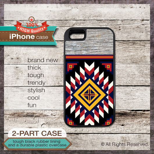 Tribal Navajo style - Design Cover 33 - Choose from iPhone 4/4S, 5/5S, 5C, Samsung Galaxy S3 or S4 Case