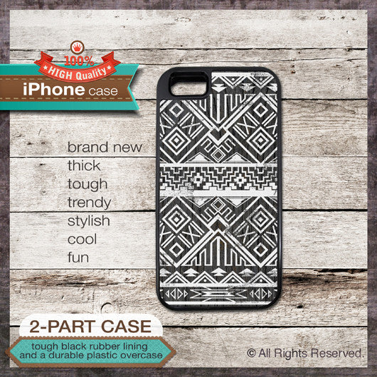 Tribal Navajo style - Design Cover 37 - Choose from iPhone 4/4S, 5/5S, 5C, Samsung Galaxy S3 or S4 Case