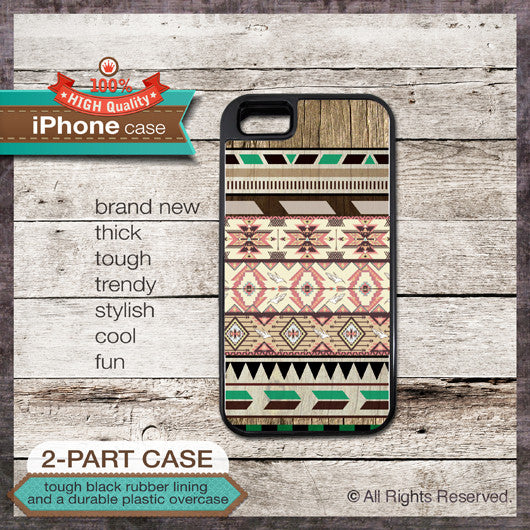 Geo Tribal Pattern Design 40 - Choose from iPhone 4/4S, 5/5S, 5C, Samsung Galaxy S3 or S4 Case