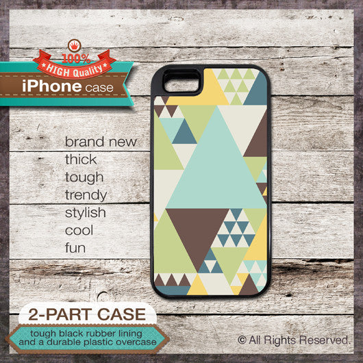 Geometric style - Design Cover 42 - Choose from iPhone 4/4S, 5/5S, 5C, Samsung Galaxy S3 or S4 Case