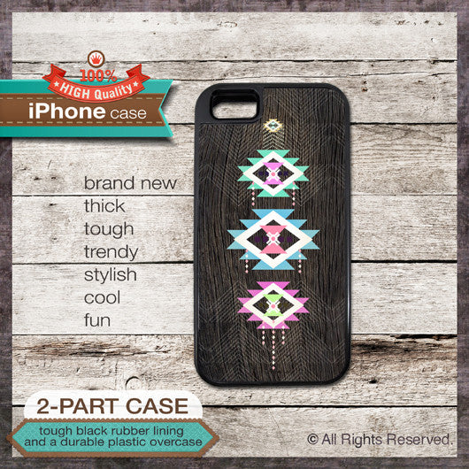 Tribal Geometric style - Design Cover 45 - Choose from iPhone 4/4S, 5/5S, 5C, Samsung Galaxy S3 or S4 Case