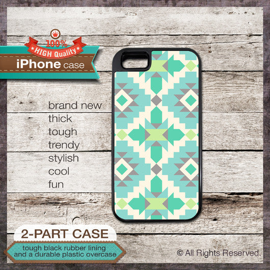 Geometric pattern - Design Cover 53 - Choose from iPhone 4/4S, 5/5S, 5C, Samsung Galaxy S3 or S4 Case