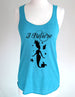I Believe in Mermaids (design 1) - Soft Eco-Heather Racerback Tank for Women