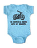 I'd Rather Be Riding with My Grandpa - Motorcycle Cute and Funny Baby One-Piece Bodysuit, Infant, Toddler, Youth Shirt