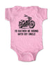 I'd Rather Be Riding with My Uncle - Motorcycle Cute and Funny Baby One-Piece Bodysuit, Infant, Toddler, Youth Shirt