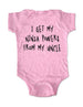 I get my ninja powers from my Uncle - Baby Onesie Bodysuit, Infant, Toddler, Youth Shirt