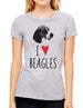 I Love Beagles - design2 Modern Design - Women & Unisex/Men Shirt