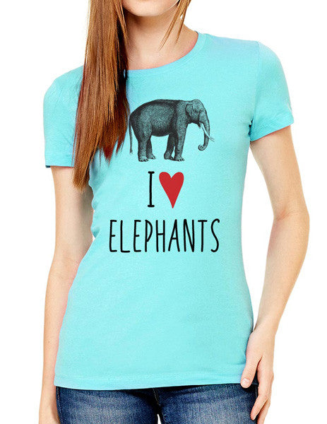 I Love Elephants - design2 Modern Design - Women & Unisex/Men Shirt