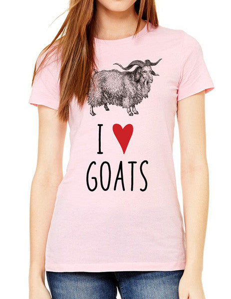 I Love Goats - design2 Modern Design - Women & Unisex/Men Shirt