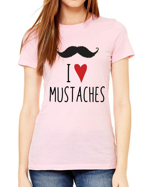I Love Mustaches- design2 Modern Design - Women & Unisex/Men Shirt