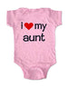 i love my aunt - Baby One-Piece Bodysuit, Infant, Toddler, Youth Shirt