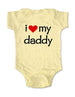 i love my daddy - Baby One-Piece Bodysuit, Infant, Toddler, Youth Shirt