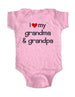 i love my grandma & grandpa - Baby One-Piece Bodysuit, Infant, Toddler, Youth Shirt