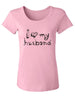 I love my husband - Women's Short Sleeve Scoop Neck Shirt