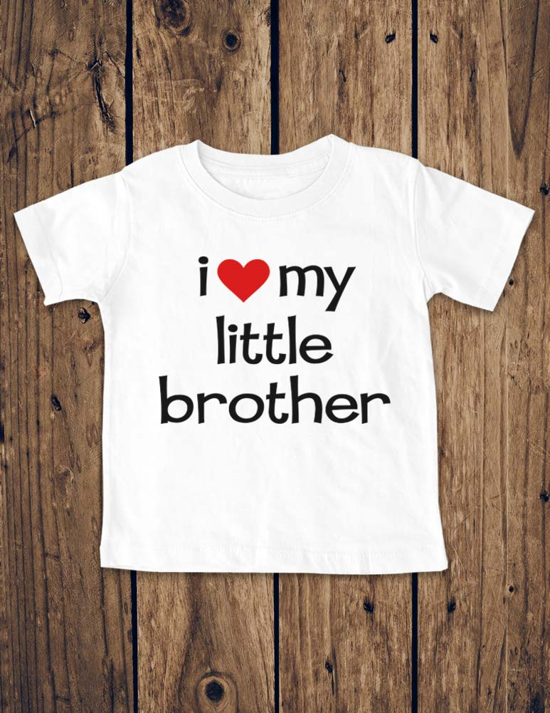 i love my little brother - Baby One-Piece Bodysuit, Infant, Toddler, Youth Shirt