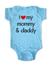 i love my mommy and daddy - Baby One-Piece Bodysuit, Infant, Toddler, Youth Shirt