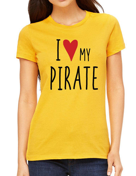 I Love My Pirate - design2 Modern Design - Women & Unisex/Men Shirt