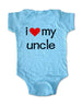 i love my uncle - Baby One-Piece Bodysuit, Infant, Toddler, Youth Shirt