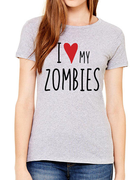 I Love My Zombies - design2 Modern Design - Women & Unisex/Men Shirt