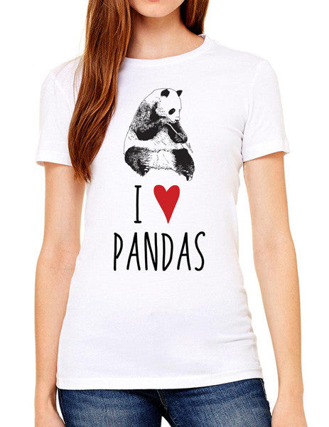 I Love Pandas - design2 Modern Design - Women & Unisex/Men Shirt
