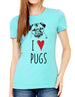 I Love Pugs - design2 Modern Design - Women & Unisex/Men Shirt