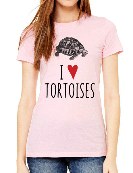 I Love Tortoises - design2 Modern Design - Women & Unisex/Men Shirt