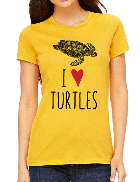 I Love Turtles - design2 Modern Design - Women & Unisex/Men Shirt