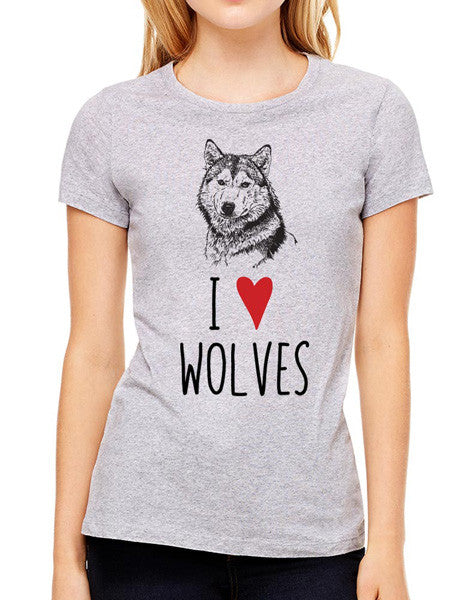 I Love Wolves - design2 Modern Design - Women & Unisex/Men Shirt