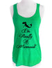 I'm Really A Mermaid (design 1) - Soft Tri-Blend Racerback Tank