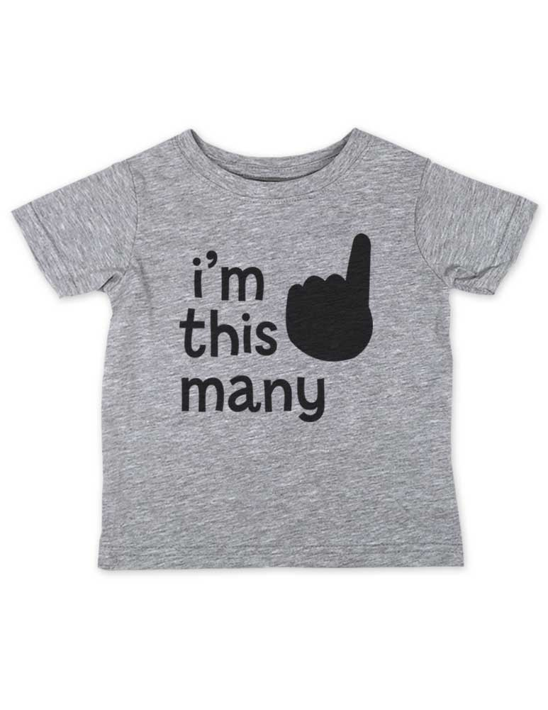 I'm This Many 1 - One year old First birthday cute funny baby Infant Tee Shirt