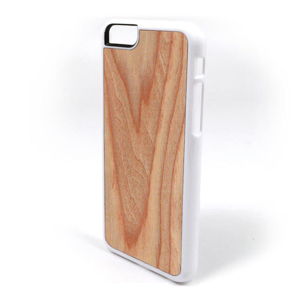 Western Red Cedar Wood iPhone Case Carved Engraved design on Real Natural Wood - For iPhone X, 7/8, 6/6s, 6/6s Plus, SE, 5/5s, 5C, 4/4s