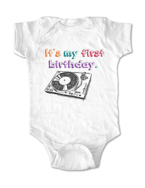 It's My first birthday - Turntable design - Baby Birth Pregnancy Announcement Infant, Toddler, Youth Shirt