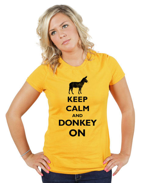 Keep Calm And Donkey On - Women & Men Shirt