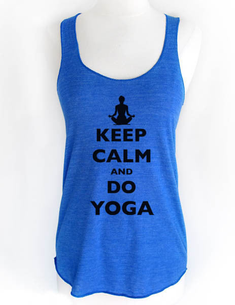 Keep Calm And Do Yoga - Soft Tri-Blend Racerback Tank
