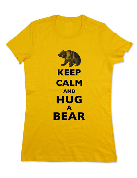 Keep Calm And Hug A Bear - Women & Men Shirt