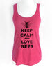 Keep Calm and Love Bees - Soft Tri-Blend Racerback Tank