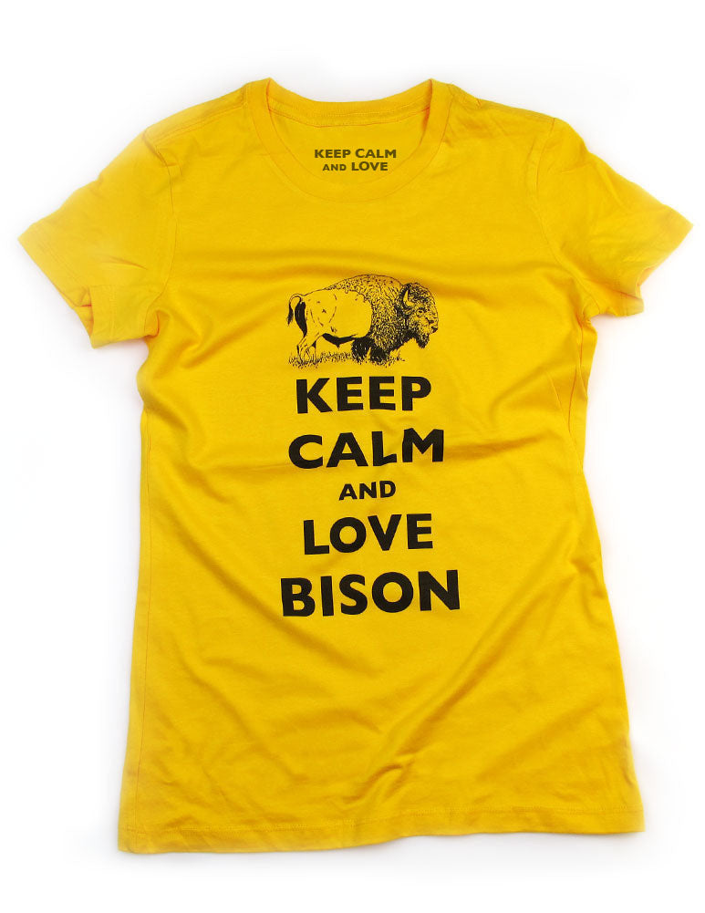 Keep Calm and Love Bison - Women & Men Shirt - Keepcalmstore
