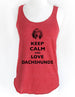 Keep Calm and Love Dachshunds - Soft Tri-Blend Racerback Tank