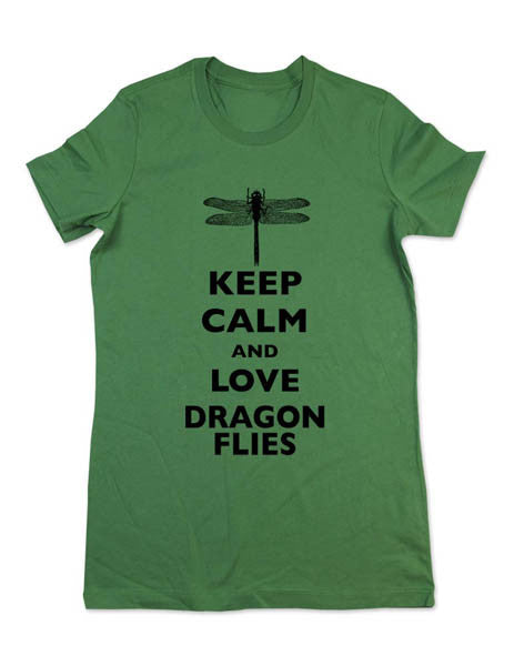 Keep Calm And Love Dragonflies - Women & Men Shirt
