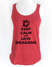 Keep Calm and Love Dragons - Soft Tri-Blend Racerback Tank