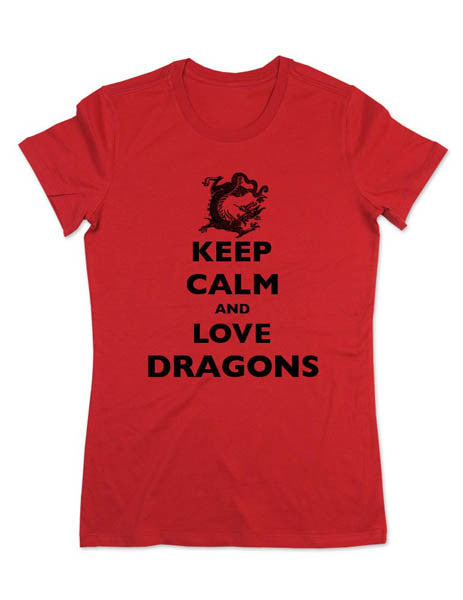 Keep Calm And Love Dragons - Women & Men Shirt