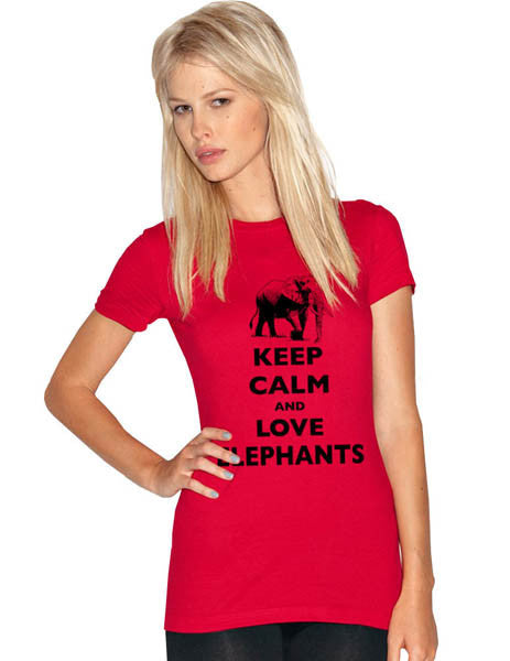 Keep Calm And Love Elephants - Women & Men Shirt