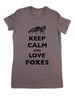 Keep Calm And Love Foxes - Women & Men Shirt
