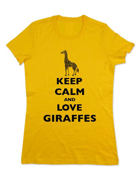 Keep Calm and Love Giraffes - Women & Men Shirt